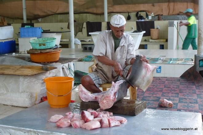 Fischverkäufer am Markt in Mutrah