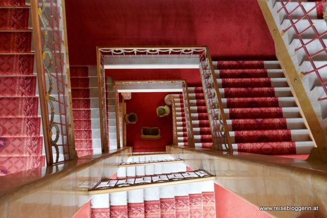 Treppenhaus im Hotel Europe